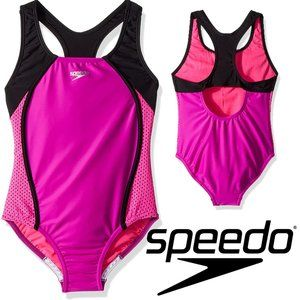"SPEEDO Girls One Piece Swimsuit ""Mesh Splice"""
